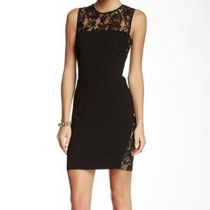 Trina Turk black Tappe lace dress sleeveless